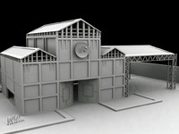 hangars building 3d 3ds