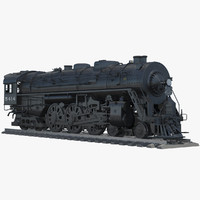 hudson j3a steam engine 3d model