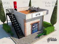 3d model gym level 5