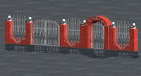 fence wrought iron 3d model