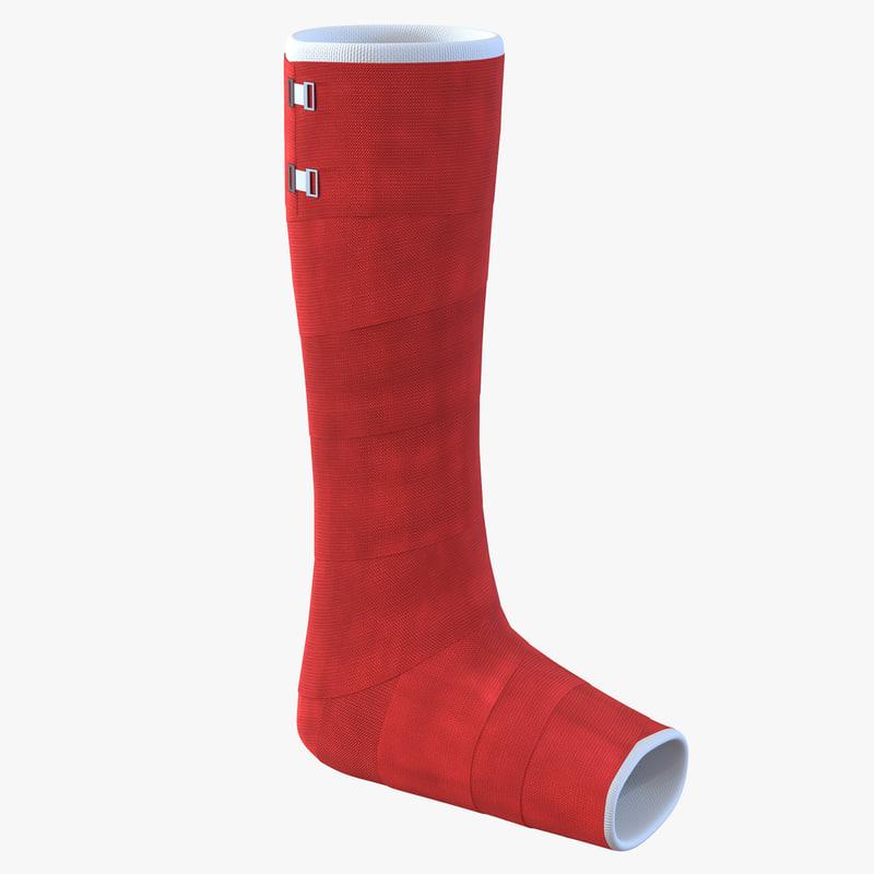 Orthopedic Cast Leg 3d model 01.jpg