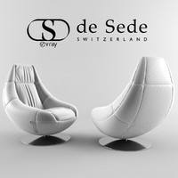 3d model of armchair sede 166