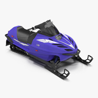 snowmobile generic rigged 3d max