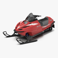 3d model snowmobile yamaha rigged
