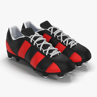 3d football boots 2 red model
