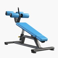 3d model gym equipment abdominal crunch