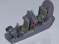 3d ah-1w cockpit model