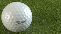 golf ball titleist 3d model