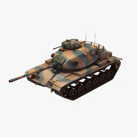 3ds m60a3 battle tank turkish