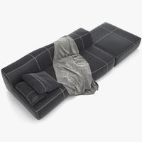 3d model bend sofa