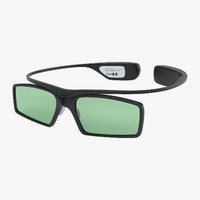 samsung active glasses 3d model