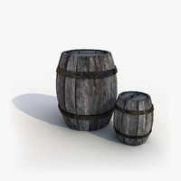 3d model barrel cartoon