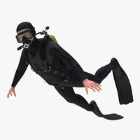diver 3D models