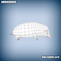 base mesh hedgehog 3d model