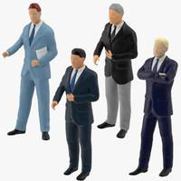 business men miniature 3d model
