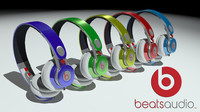 beats earphones 3d model