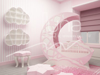 3d model babyroom room baby