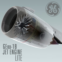 genx-1b jet engine lite 3d 3ds