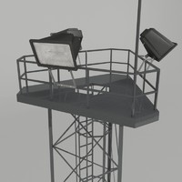 3d model spotlight tower