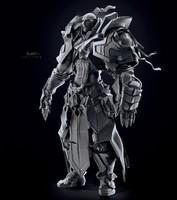 3d character warrior