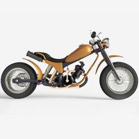 old motorcycle concept bike 3d 3ds