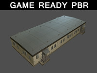 3d barracks 02 model
