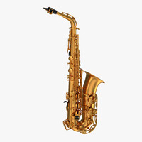 golden saxophone 3d model