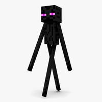 3d minecraft enderman rigged model