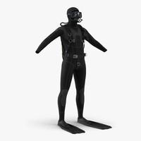 3d scuba diving equipment