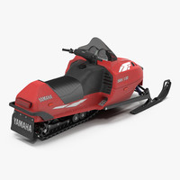snowmobile yamaha 3d c4d