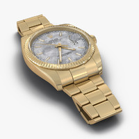 rolex datejust gold 36mm 3d model