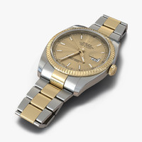 rolex datejust steel gold 3d max