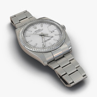 rolex datejust white gold 3d model