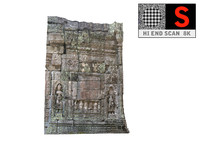 cambodia temple wall 8k 3d obj