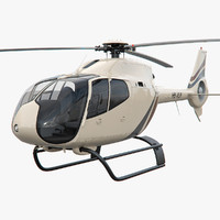 3d model helicopter ec 120