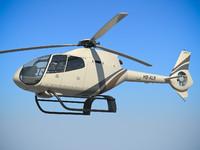 3d model helicopter ec 120