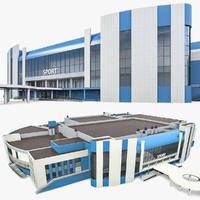 sport complex 3d model