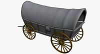 3d model western wagon