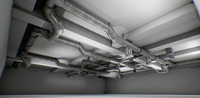 interior air ducts modular system 38 elements 1 with animation