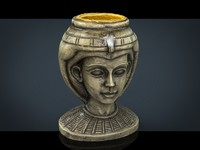 egyptian head 3d 3ds