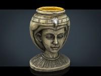 egyptian head 3d 3ds