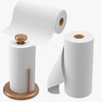 paper towel rolls obj