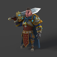 Cartoon_Warrior_Rigged