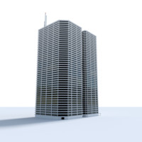 willow office building 3d 3ds