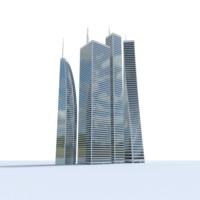skyscraper pack obj