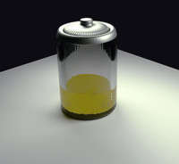 battery liquid glowing 3d blend