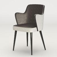 3d chair versace moon model