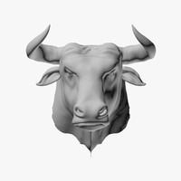 3d bull head model