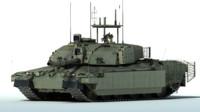 3d model challenger 2 mbt tank