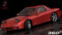 3d model mazda rx-7 1997